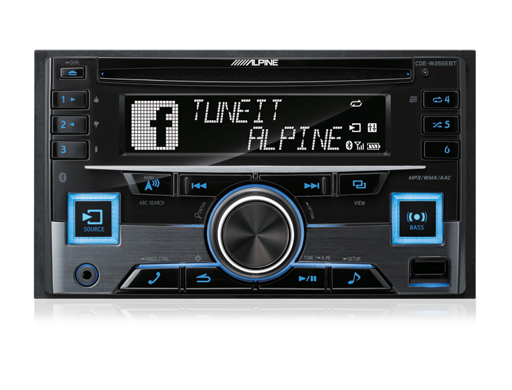 alpine cde w265ebt double din alpine car audio. Black Bedroom Furniture Sets. Home Design Ideas